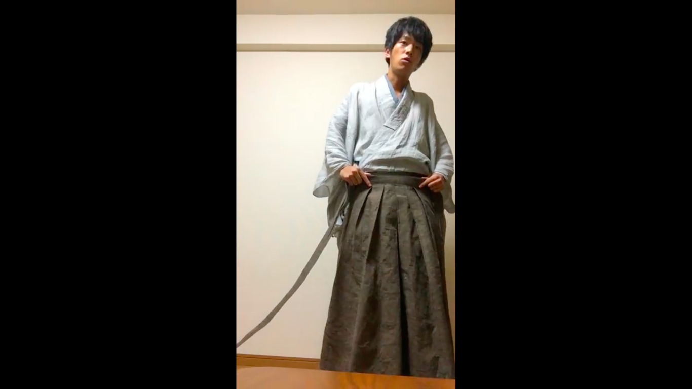 一回でまるわかり!袴の履き方を動画で解説 【普段着男着物】