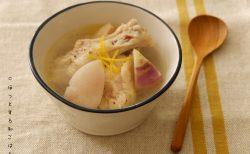 [ほっとする和ごはんレシピ] スープで温まろう「かぶと鶏肉の塩麹生姜スープ」